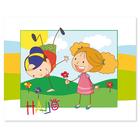 3 tlg. Schulfotomappe / Kindergartenmappe für 13x18 cm mit 2 Einsteckschlitzen - Freunde Produktbild