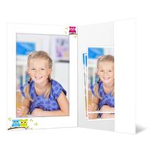 Portraitmappe mit Tasche für 13x18 cm - Motivdruck Eulen Produktbild