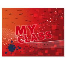 3 tlg. Schulfotomappe / Kindergartenmappe für 13x18 cm mit 2 Einsteckschlitzen - My class Produktbild