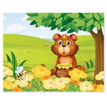 3 tlg. Schulfotomappe / Kindergartenmappe für 13x18 cm mit 2 Einsteckschlitzen - Honigbär Produktbild