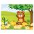 3 tlg. Schulfotomappe / Kindergartenmappe für 13x18 cm mit 2 Einsteckschlitzen - Honigbär Produktbild Front View 2XS