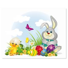 3 tlg. Schulfotomappe / Kindergartenmappe für 13x18 cm mit 2 Einsteckschlitzen - Osterhase Produktbild