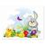 3 tlg. Schulfotomappe / Kindergartenmappe für 13x18 cm mit 2 Einsteckschlitzen - Osterhase Produktbild Front View 2XS