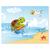 3 tlg. Schulfotomappe / Kindergartenmappe für 13x18 cm mit 2 Einsteckschlitzen - Schildkröte Produktbild Front View 2XS