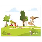 3 tlg. Schulfotomappe / Kindergartenmappe für 13x18 cm mit 2 Einsteckschlitzen - Wettlauf Produktbild