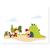 3 tlg. Schulfotomappe / Kindergartenmappe für 13x18 cm mit 2 Einsteckschlitzen - Ritterburg Produktbild Additional View 5 2XS