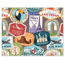 3 tlg. Schulfotomappe / Kindergartenmappe für 13x18 cm mit 2 Einsteckschlitzen - Briefmarke Produktbild