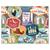 3 tlg. Schulfotomappe / Kindergartenmappe für 13x18 cm mit 2 Einsteckschlitzen - Briefmarke Produktbild Front View 2XS