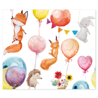 3 tlg. Schulfotomappe / Kindergartenmappe für 13x18 cm mit 2 Einsteckschlitzen - Ballons Produktbild