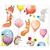 3 tlg. Schulfotomappe / Kindergartenmappe für 13x18 cm mit 2 Einsteckschlitzen - Ballons Produktbild Front View 2XS