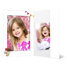 Portraitmappe mit Tasche für 13x18 cm - Motivdruck Ballons Produktbild