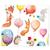 3 tlg. Schulfotomappe / Kindergartenmappe für 13x18 cm mit 2 Einsteckschlitzen - Ballons Produktbild Additional View 5 2XS