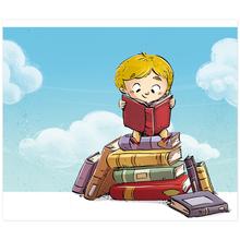 3 tlg. Schulfotomappe / Kindergartenmappe für 13x18 cm mit 2 Einsteckschlitzen - Leseratten Produktbild