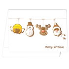 Portraitmappe mit Tasche für 13x18 cm - Querformat - Motivdruck Merry Christmas bunt Produktbild