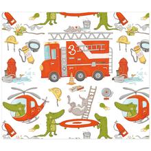 3 tlg. Schulfotomappe / Kindergartenmappe für 13x18 cm mit 2 Einsteckschlitzen - Feuerwehr Produktbild
