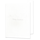 Portraitmappe mit Tasche für 13x18 cm - weiß - Merry Christmas - Hochprägung Produktbild