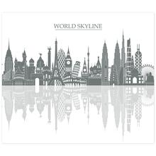 3 tlg. Schulfotomappe / Kindergartenmappe für 13x18 cm mit 2 Einsteckschlitzen - World Skyline Produktbild