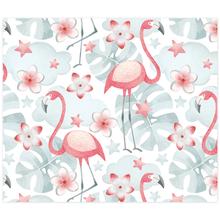 3 tlg. Schulfotomappe / Kindergartenmappe für 13x18 cm mit 2 Einsteckschlitzen - Flamingo Produktbild