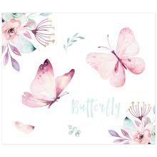 3 tlg. Schulfotomappe / Kindergartenmappe für 13x18 cm mit 2 Einsteckschlitzen - Butterfly Produktbild