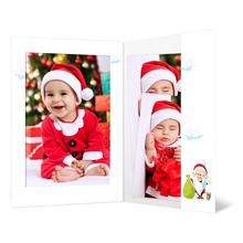 Portraitmappe mit Tasche für 13x18 cm - Motivdruck Weihnachtsmann Produktbild