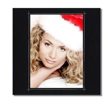 Fotomaske für 9x13 cm - schwarz matt mit Rand - ohne Rückwand - außen 16x16 Produktbild