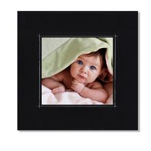 Fotomaske für 13x13 cm - schwarz matt mit Rand - ohne Rückwand - außen 16x16 Produktbild