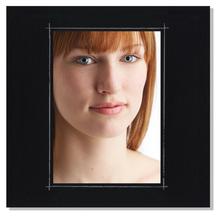 Fotomaske für 9x13 cm - schwarz matt mit Rand - ohne Rückwand - außen 21x21 Produktbild