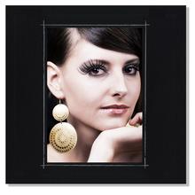 Fotomaske für 10x15 cm - schwarz matt mit Rand - ohne Rückwand - außen 21x21 Produktbild