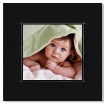 Fotomaske für 13x13 cm - schwarz matt mit Rand - ohne Rückwand - außen 21x21 Produktbild