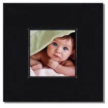 Fotomaske für 13x13 cm - schwarz matt mit Rand - ohne Rückwand - außen 24x24 Produktbild