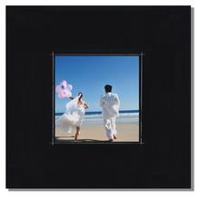 Fotomaske für 15x15 cm - schwarz matt mit Rand - ohne Rückwand - außen 24x24 Produktbild