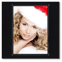 Fotomaske für 15x20 cm - schwarz matt mit Rand - ohne Rückwand - außen 24x24 Produktbild