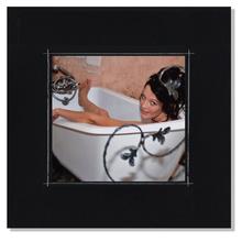 Fotomaske für 18x18 cm - schwarz matt mit Rand - ohne Rückwand - außen 24x24 Produktbild