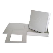 """Komplettset """"Deko"""" Fotobuch & -box 21x21 cm silber satiniertes Papier Produktbild"""