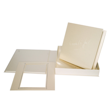 """Komplettset """"Deko"""" Fotobuch & -box 21x21 cm creme satiniertes Papier Produktbild"""