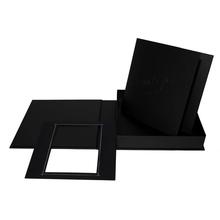 "Komplettset ""Deko"" Fotobuch & -box 21x21 cm schwarz mattes Papier Produktbild"