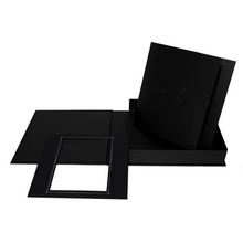 "Komplettset ""Deko"" Fotobuch & -box 24x24 cm schwarz mattes Papier Produktbild"