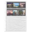 Negativ-Ablageblätter, 4 Streifen, einseitig klar, Rollfilm, 100 Stück Produktbild