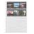 Negativ-Ablageblätter, 4 Streifen, einseitig klar, Rollfilm, 100 Stück Produktbild Front View 2XS