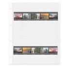 Negativ-Ablageblätter, 7 Streifen, beidseitig klar, Kleinbild, 100 Stück Produktbild