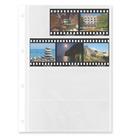 Negativ-Ablageblätter, 4 Streifen, beidseitig klar, Rollfilm, 100 Stück Produktbild