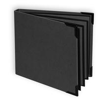"""Einband mit Rücken Serie""""Hammerschlag"""" für Leporellos 12x12 cm - schwarz Produktbild"""