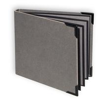 """Einband mit Rücken Serie""""Hammerschlag"""" für Leporellos 12x12 cm - grau Produktbild"""