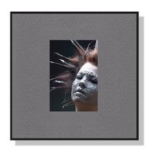 Fotomaske für 4,5x6 cm - grau mit Leinenstruktur - ohne Rückwand Produktbild
