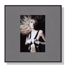 Fotomaske für 5x8 cm - grau mit Leinenstruktur - ohne Rückwand Produktbild