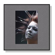 Fotomaske für 6x9 cm - grau mit Leinenstruktur - ohne Rückwand Produktbild