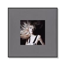 Fotomaske für 13x13 cm - grau mit Leinenstruktur - ohne Rückwand - Hochprägung Produktbild