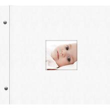 """Schraubalbum """"Premium"""" für  21x21 cm - weiß - Kunstleder Produktbild"""