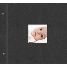 """Schraubalbum """"Premium"""" für  30x30 cm - schwarz - Kunstleder Produktbild"""