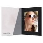 Fotomappe Bi-Color für 13x18 cm - transparent schwarz gerippt Produktbild